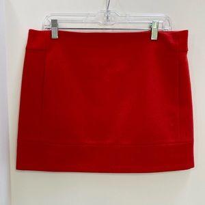 J Crew factory red wool mini skirt size 10